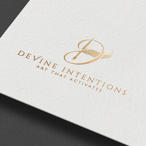 Artist logo with the title 'Devine intentions logo'