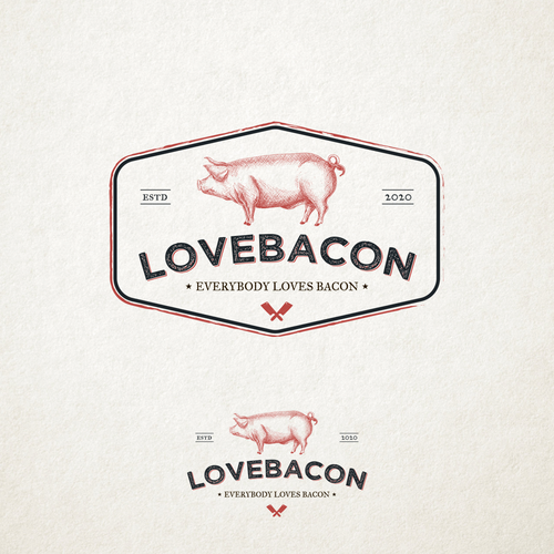 Pork logo with the title 'LoveBacon'