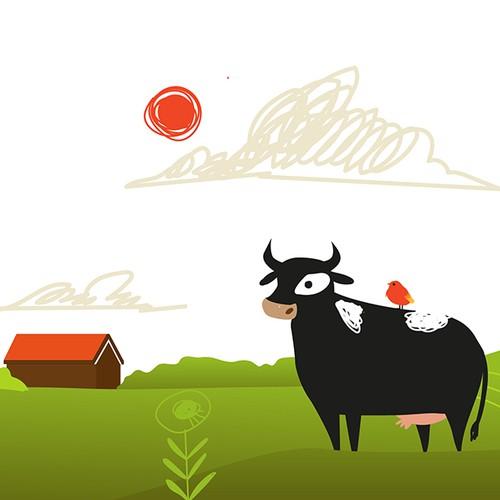 Land design with the title 'Header illustration'