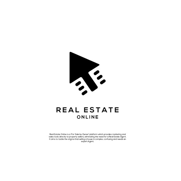 Cursor logo with the title 'Real Estate Online'