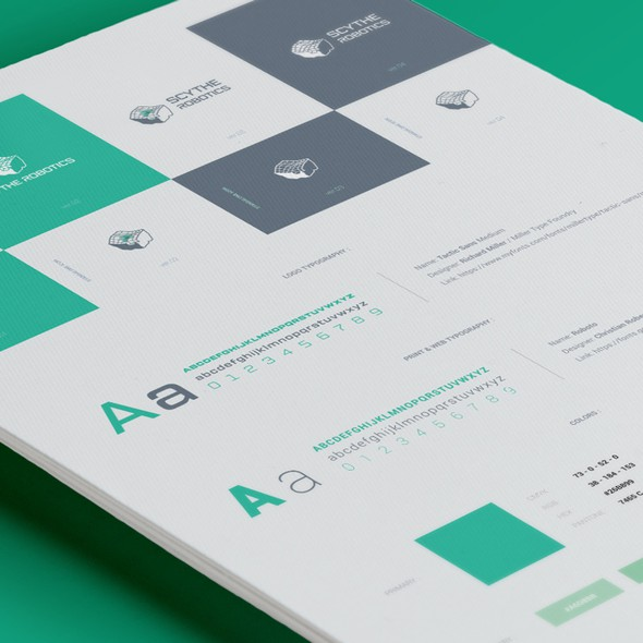 Easy design with the title 'Simple brand guide'
