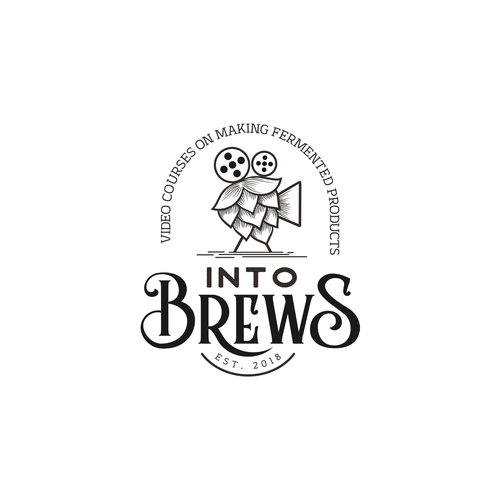 Video production logo with the title 'into brew'