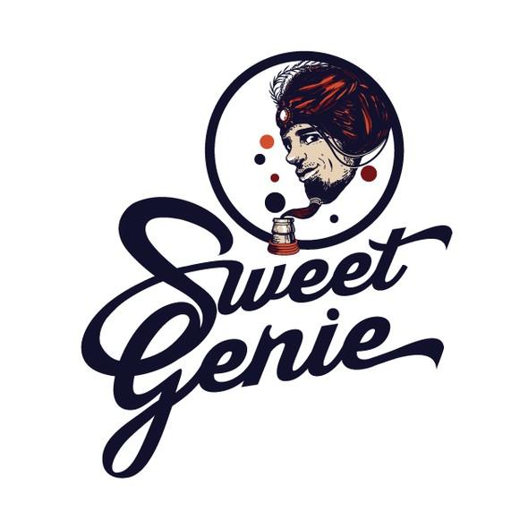 Genie logo with the title 'logo for Sweet Genie'
