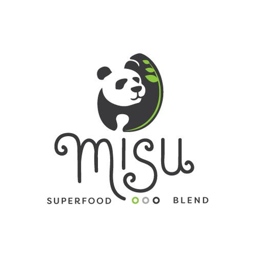 Rice design with the title 'Misu Superfood Blend Logo'