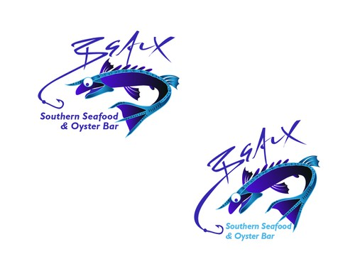 Oyster logo with the title 'Logo for Beaux Southern Seafood & Oyster Bar'