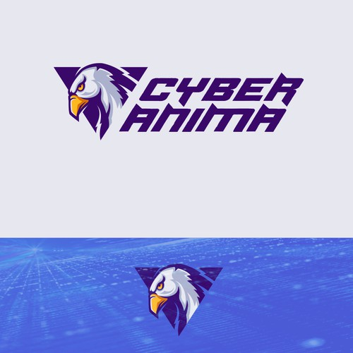 3D triangle logo with the title 'Modern Cyber Security logo'