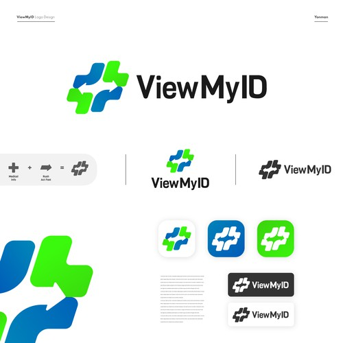 View logo with the title 'Modern Minimalist Logo & Icon for Medical Service'