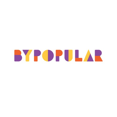 Violet logo with the title 'Logo concept for an organisation spreading knowledge about bipolar disorder'