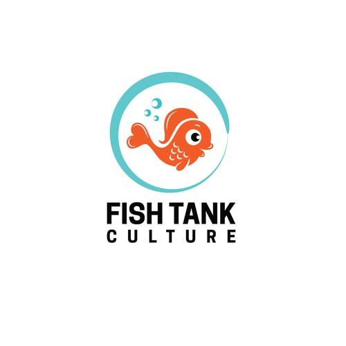 Aquarium design with the title 'FISH TANK CULTURE'