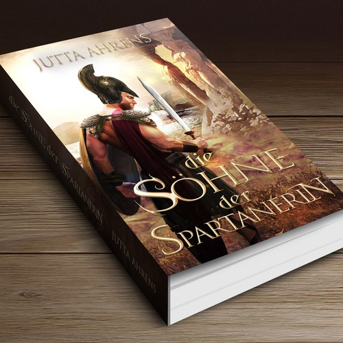 """Gay design with the title 'Book Cover: Historical Novel with the title """"Die Söhne der Spartanerin""""'"""