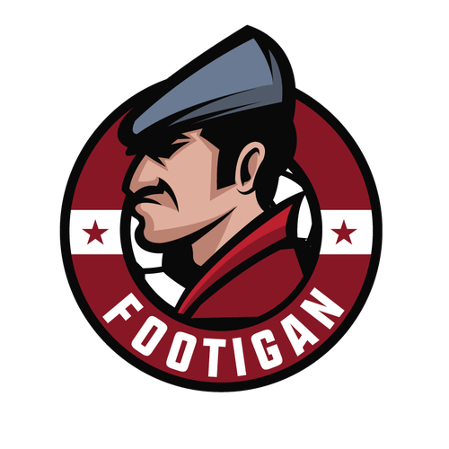Soccer logo with the title 'Footigan Logo'