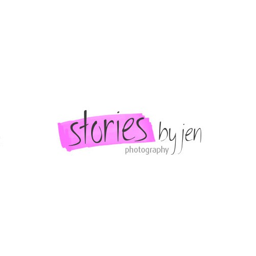 Picture logo with the title 'stories by jen'
