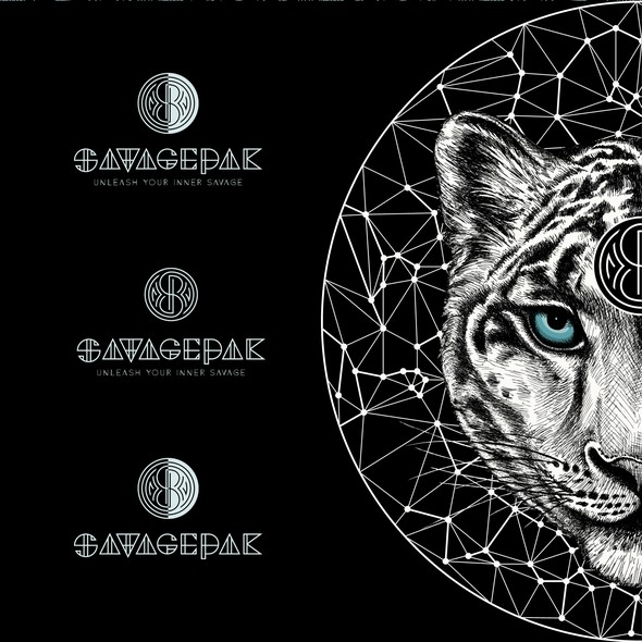 Leopard logo with the title 'Logo design for for a high end fashion house SavagePaK'