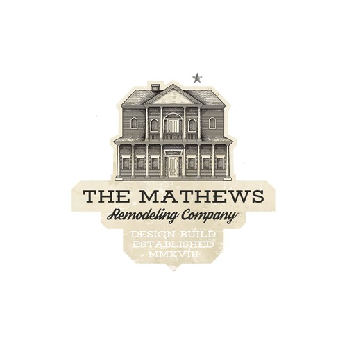 House logo with the title 'The Mathews Remodeling Company'