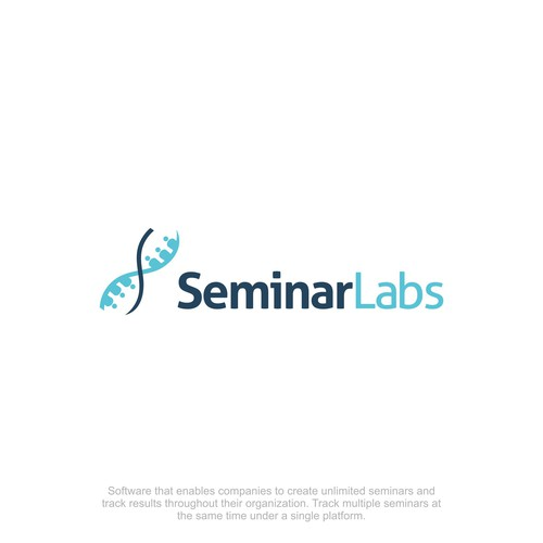 Seminar design with the title 'Clever Logo for Seminar Management Software'