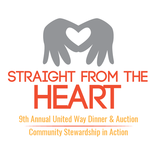 Auction logo with the title 'Straight from the heart'
