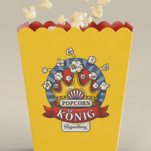 Popcorn logo with the title 'Responsive logo design'