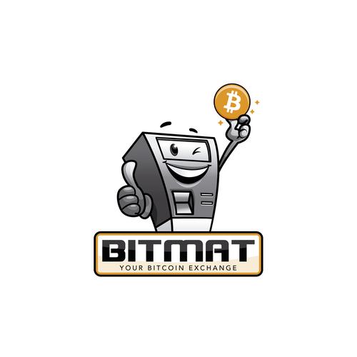 Sketchbook design with the title 'Bitmat.at logo design'