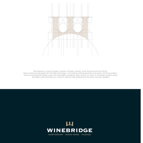 Elegant brand with the title 'Wine Bridge '