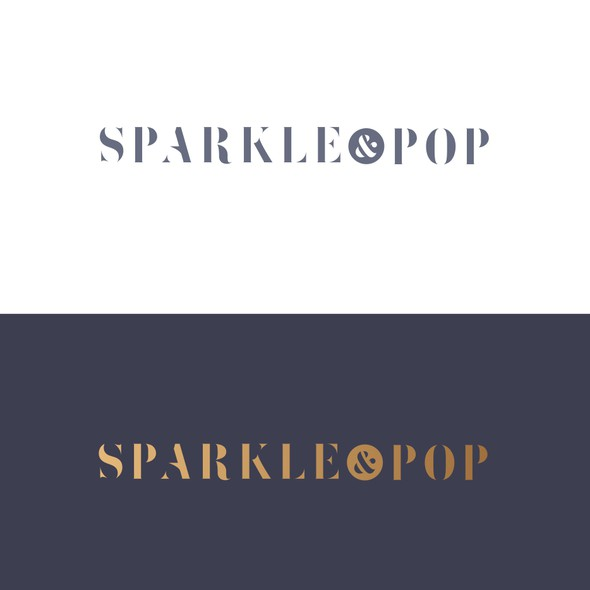 Champagne bottle logo with the title 'Online Champagne Retailer'