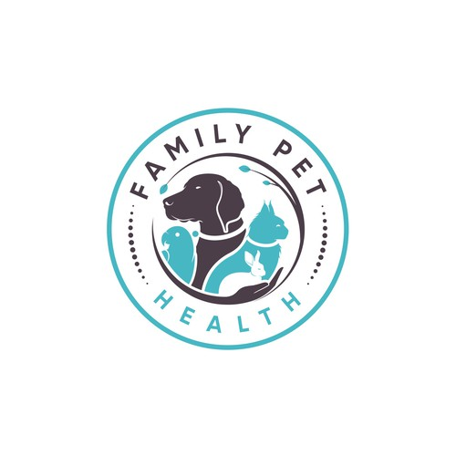 Turquoise logo with the title 'Family Pet Health'