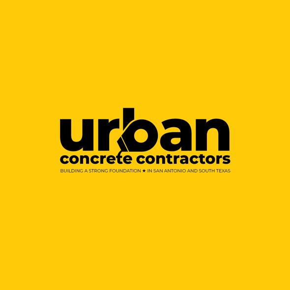 Concrete logo with the title 'Cool Concrete Contractors Concept'