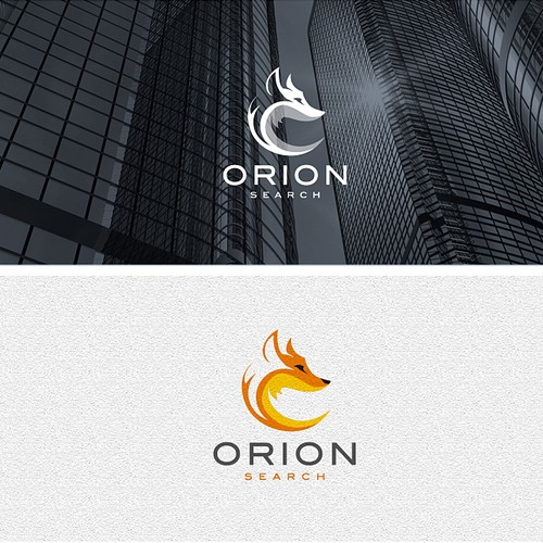 Digital logo with the title 'Orion Search'