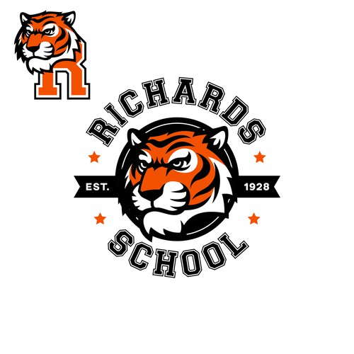 Bengal tiger logo with the title 'Help Richards Tigers ROAR!'