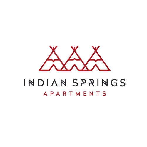 Clever logo with the title 'Native American Theme Logo'