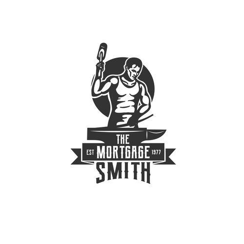 Blacksmith logo with the title 'The Mortgage Smith logo'