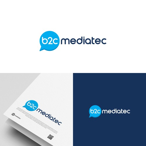 Advertising brand with the title 'Memorable logo for a digital media company'