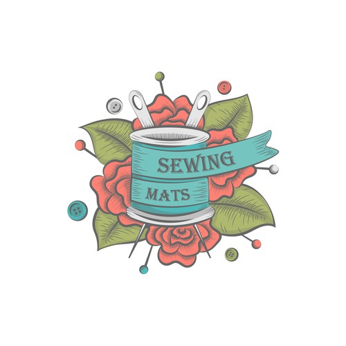 Flora logo with the title 'artistic logo for sewing business'