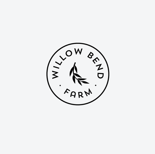 Emblem logo with the title 'Create a rustic modern logo for our family farm.'