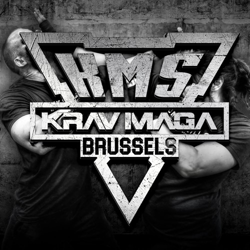 Army logo with the title 'SIMPLE LOGO FOR KRAV MAGA BRUSSELS LOGO'