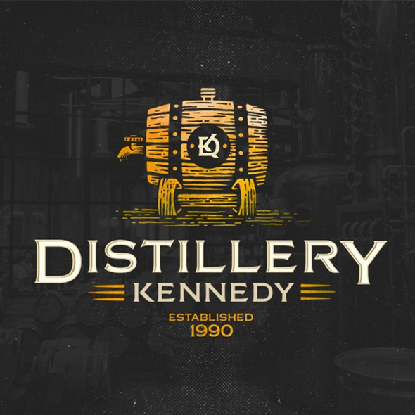 Beverage brand with the title 'Distillery Kennedy'