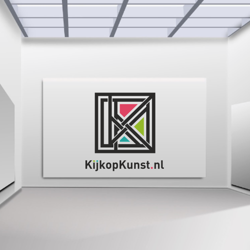 Picture design with the title 'Logo for an online art Gallery'