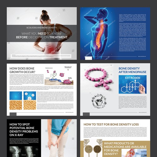 Bone design with the title 'Ebook Design'