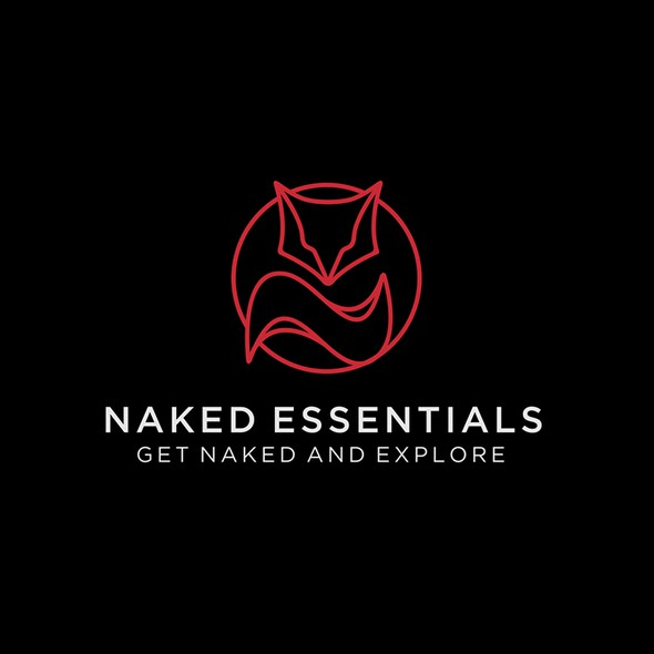 Naked design with the title 'Naked Essentials - Fox Lineart Logo'