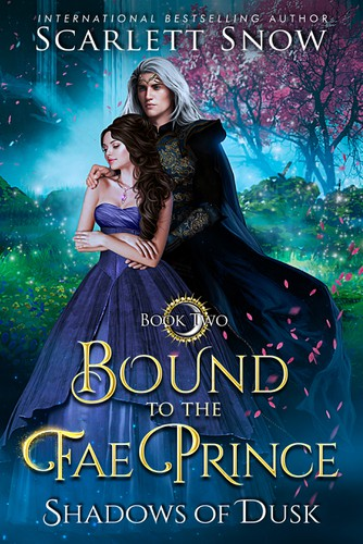 Fairy tale book cover with the title 'Bound to the Fae Prince '