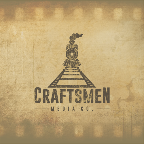 Video logo with the title 'Craftsmen - Logo for a film production company'