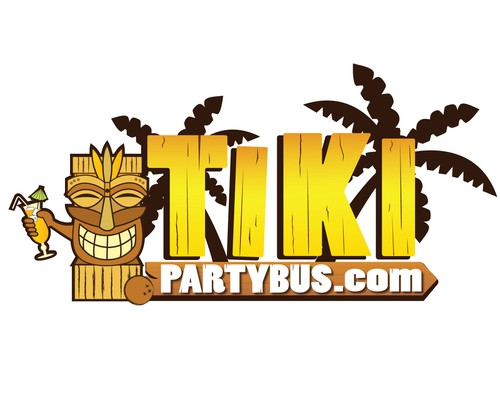 Tiki logo with the title 'TikiPartyBus.com'