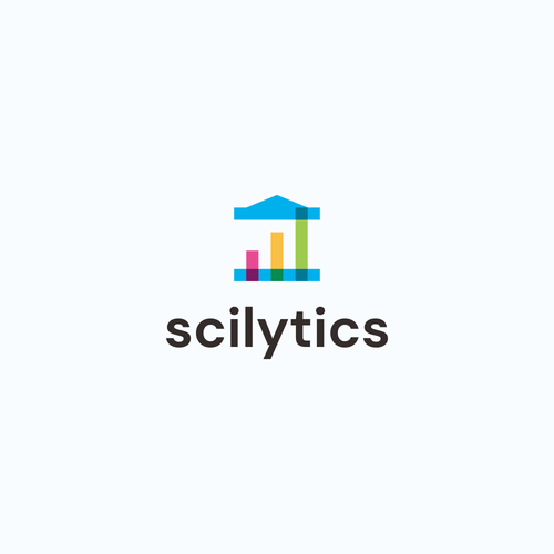 Meaningful design with the title 'Serious yet attractive logo for education technology startup: Scilytics'
