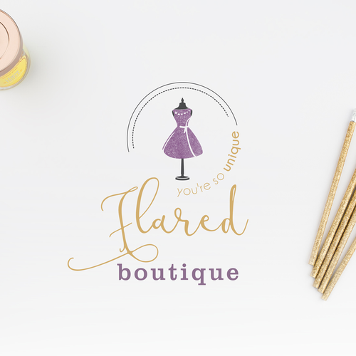 Clothing brand with the title 'boutuque logo'