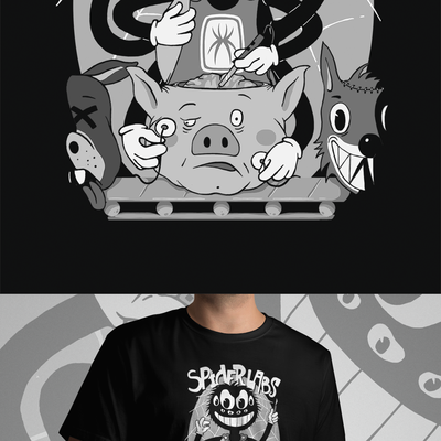 Retro Cartoon T-shirt Design