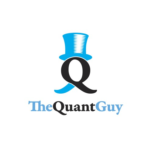 Top hat design with the title 'TheQuantGuy logo design'