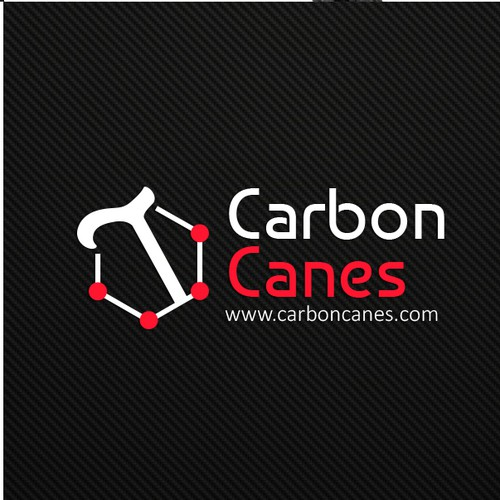 Carbon design with the title 'Canes logo'