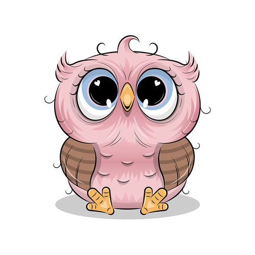 Cute artwork with the title 'Adorable Owl'
