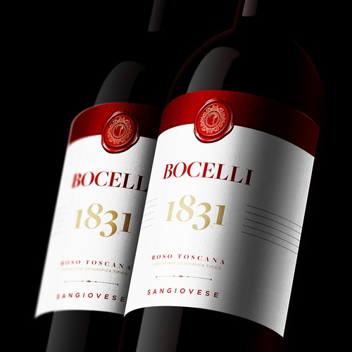 Winery design with the title 'Bocelli'