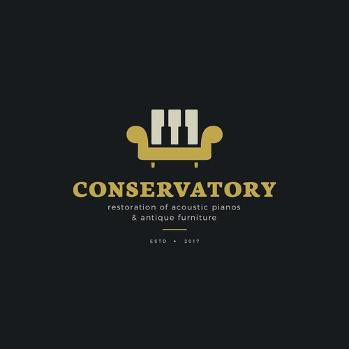 Classical music logo with the title 'Conservatory '