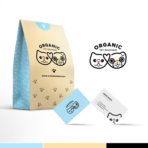 Pet brand with the title 'Organic Pet Boutique'